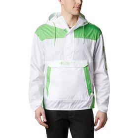 Columbia Challenger Chaqueta Cortavientos Hombre, blanco/verde